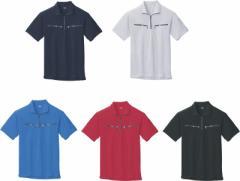 半袖ジップアップシャツ 吸汗速乾 6160 ジーベック xebec