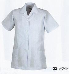白衣 調理用 半袖えり付き 3L 女性用(レディース) ジーベック XEBEC 25116