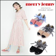 merry jenny メリージェニー ギンガムレースアップサンダル レディース サンダル シューズ レースアップ ギンガム FCS