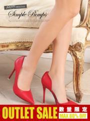 [outlet/46%OFF][4サイズ S/M/L/LL] 10cmヒール シンプルピンヒールスムースポインテッドトゥパンプス / 靴 dazzystoreオリジナル