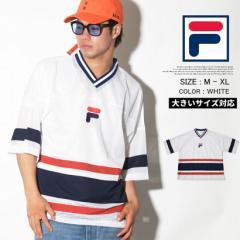 FILA フィラ ホッケーシャツ メンズ 大きいサイズ ゲームシャツ ストリート系 ヒップホップ スポーツ ファッション