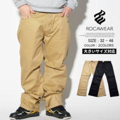 ROCA WEAR ロカウェア チノパンツ ロングパンツ メンズ Rロゴ刺繍 R1608B402 B系 ストリート系 ファッション
