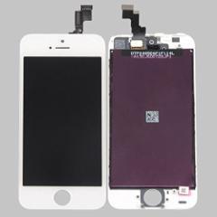 iPhone5S 修理用フロントパネル(フロントガラスデジタイザ) ホワイト タッチパネル 液晶パネルセット
