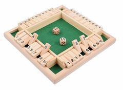 木製ゲーム シャット ザ ボックス ダイス ゲーム サイコロゲーム 数字 ゲーム 木製おもちゃShut the Box Game 22x22x3cm