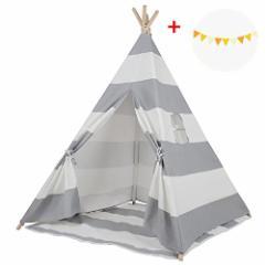 キッズテント おもちゃ テントハウス 子供用 室内テント プレゼント 子供テント おままム 遊び小屋 プレゼント (ストライプ)