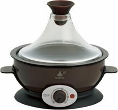 Apice アピックス タジンポット <蒸す・焼く・煮るの1台3役> 20品目レシピブック付 ブラウン AMP-170-BR