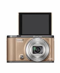 (送料無料)CASIO デジタルカメラ EXILIM EX-ZR1700GD 自分撮りチルト液晶 オートトランスファー機能 Wi-Fi/Bluetooth搭載 ゴールド
