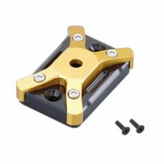 (送料無料)キタコ(KITACO) マスターシリンダーキャップ タイプ1・ブラック/ゴールド GROM PCX125/150 シグナスX等 524-0001040