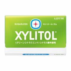 (送料無料)ロッテキシリトールガム<グリーンシトラスミント> 12枚×10個