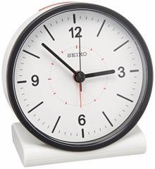 (送料無料)SEIKO CLOCK(セイコークロック) アナログ目覚まし時計 電波時計(白) KR328W KR328W