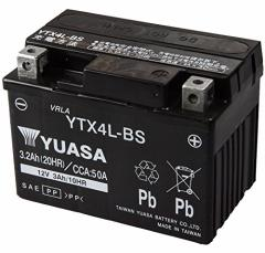 (送料無料)TAIWAN YUASA [ 台湾ユアサ ] シールド型 バイク用バッテリー [YT4L-BS高性能版] YTX4L-BS