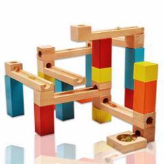 Wishtime 知育玩具シリーズ 木製 玉転がし ビーズコースター 33点セット W170015 3歳から