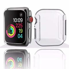 【送料無料】Apple Watch Series 4 ケース(2個セット) 新型 全面保護 Apple Watch カバー TPU素材 柔らかい 耐衝撃 脱着簡単