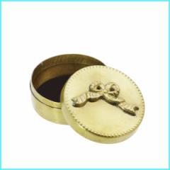 黄銅(真鍮)製の小物入れ|ECLAT ミニケース ラウンド