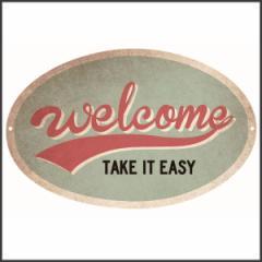 サインプレート アンティーク ブリキ 看板 ティンプレート アメリカン雑貨 デザインボードメタルS ウェルカム