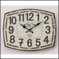 時計 壁掛ケ アナログ アンティーク アメリカン雑貨 壁掛ケ時計 オールドルック ウォールクロック レクタングル VIN..PORT
