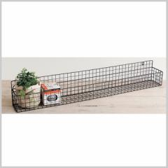 ワイヤー ラック バスケット 壁掛け 収納 棚 RUSTIC WINDOW PLANTER RACK 800