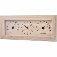 フォレ温・湿度計・時計 TQ-4733