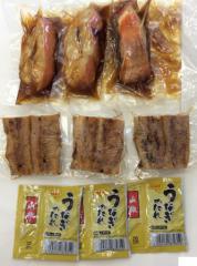 国産 金目鯛煮付一切パック ×3パック &三河一色産 国産ウナギ うなぎ蒲焼50g×3パックの贅沢湯煎三昧セット