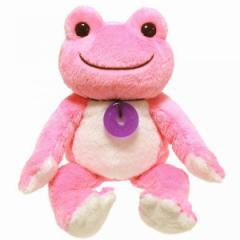 かえるのピクルス ボンジュールピクルス ビーンドール ぬいぐるみ ピンク 座高16cm