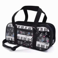 格上スタイルのキッズ絵の具セット・サクラクレパス ピアノの上で踊る黒猫ワルツ(ブラック) 日本製 N2100810