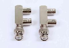 BNC コネクタ Y型 並列 2 分岐 2個セット    映像 信号 接続 電気 配線 工作 DIY  L763lvt-763【1〜2日発送】