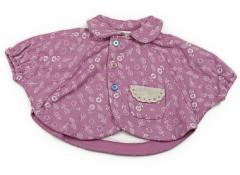 【ブランシェス/BRANSHES】ポンチョ 70サイズ 女の子【USED子供服・ベビー服】(80701)