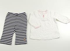 【ミキハウス/miki HOUSE】上下セット 80サイズ 女の子【USED子供服・ベビー服】(37034)