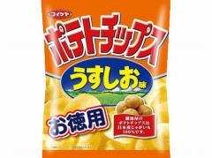 湖池屋  お徳用 ポテトチップスうすしお味 130g x...