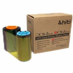 IDカードプリンターCS-200専用フルカラープリントリボン(400枚印刷/巻・クリーニングキット付属)