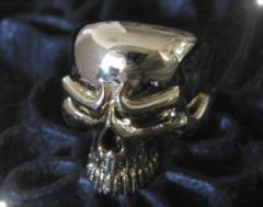 ブラススカルリング(1)偶数サイズ16号・17号・18号・19号・20号・21号・22号・23号・24号・25号/ドクロ指輪真鍮製【メイン】
