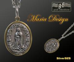 【GV】マリアとロレーヌ十字架のペンダントSV+B/十字架【メイン】ペンダント送料無料