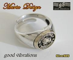 【GV】ブレイブハンドリングSV+B16号フリーサイズ/マリア指輪シルバー925銀【メイン】送料無料