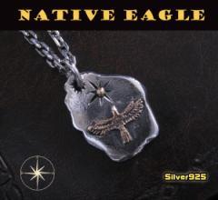 ネイティブペンダント(12)SV+B/(メイン)シルバー925銀ネックレス鳥・動物送料無料