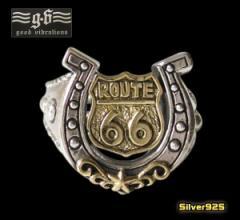 【GV】ルート66ホースシューリング(1)19号フリーサイズ/(メイン)・蹄鉄・馬蹄指輪・送料無料