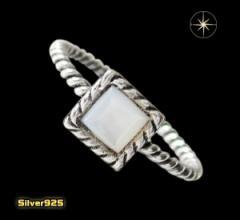 デザインリング(40)白シェル07号・09号・11号・13号・15号・17号/(メイン)天然石・シンプルな指輪・送料無料
