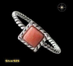 デザインリング(40)ピンク07号・09号・11号・13号・15号・17号/(メイン)天然石・シンプルな指輪・送料無料