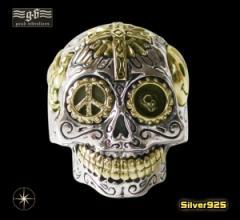 【GV】シュガースカルリング(3)17号・19号・21号・23号・25号/(メイン)シルバー925 銀製スカル・ドクロ・指輪送料無料