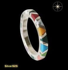 カラフルストーンリング(1)07号・09号・11号・13号・15号・17号・19号・21号・23号・25号/(メイン)天然石・指輪・リング・シルバー925