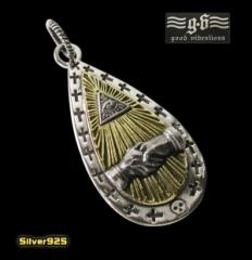 good vibrations【GV】プロビデンスの目のペンダント(2)SV+B/フリーメイソン・プロビデンス・送料無料