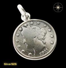 本物のアメリカのコインペンダント(3)/コイン・硬貨・ペンダント・ネックレス送料無料