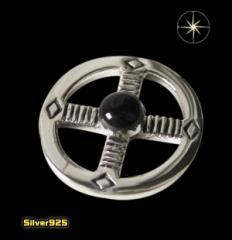 【パーツ】メディスンホイール(7)オニキス/(メイン)・ネイティブ・天然石・パーツ・送料無料