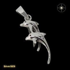 イルカのペンダント(3)/(メイン)・シルバー925銀・ペンダント・動物・魚・海・ネックレス送料無料