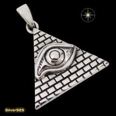 プロビデンスの目のペンダント(3)ピラミッド/(メイン)・シルバー925銀・ペンダント・フリーメイソン・秘密結社・エジプト・ネックレス送