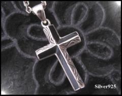 デザインクロス(2) ・シルバー925十字架銀ペンダント送料無料