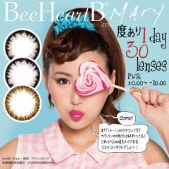 ビーハートビーメアリー MARY 1day 30枚入り ブラックブラウン ブラックピンク ブラウン Bee heart B 30枚 ワンデーカラコン