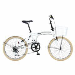 DOPPELGANGER m6-24-WH ホワイト Mobility Six(モビリティシックス) [24インチ折りたたみ自転車]