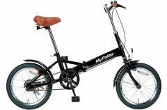 折りたたみ自転車 マイパラス M-101-BK【メーカー直送】【代引き払い不可】【本州以外不可】