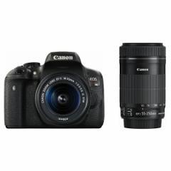 CANON EOS Kiss X8i ダブルズームキット [デジタル一眼レフカメラ(2420万画素)]【あす着】