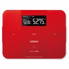 OMRON HBF-254C-R カラダスキャン レッド [体組成計]